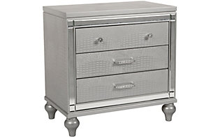 New Classic Valentino Silver Nightstand