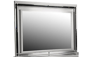 New Classic Valentino Silver Lighted Mirror