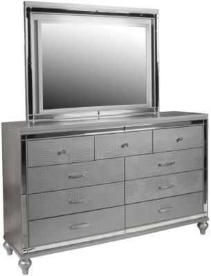 New Classic Valentino Silver Dresser with Mirror