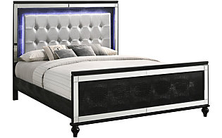 New Classic Valentino Black Queen Bed