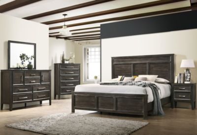 New Classic Andover Nutmeg King 4-Piece Bedroom Set