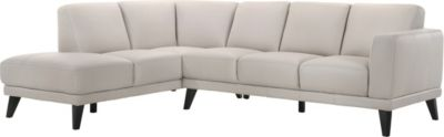 New Classic Altamura 100% Leather 2-Piece Sectional with Right