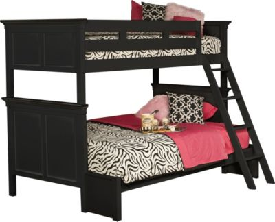New Classic Tamarack Black Twin/Full Bunk Bed
