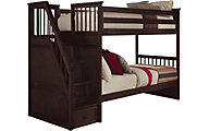 Ne Bedroom Schoolhouse Twin/Twin Bunk Bed with Storage Stairs