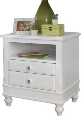 Ne Bedroom Lake House White Nightstand