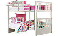 Ne Bedroom Pulse White Full/Full Bunk Bed