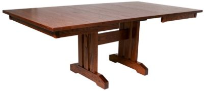 Oakwood Industries Mission Trestle Table