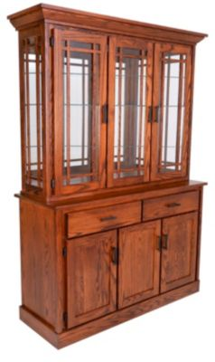 Oakwood Industries Mission China Hutch & Base
