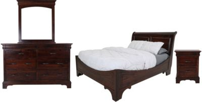 Oakwood Industries Edinburgh 4 Piece Queen Bedroom Set Homemakers Furniture