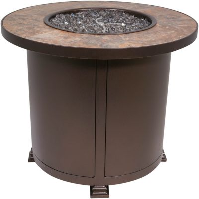 O W Lee Company Santorini Inch Round Outdoor Fire Pit - 30 inch fire pit table