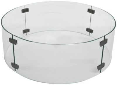 O W Lee Company Small Round Outdoor Fire Pit Glass Wind Guard