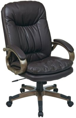 Office Star Work Smart Eco Leather Ergonomic Office Chair