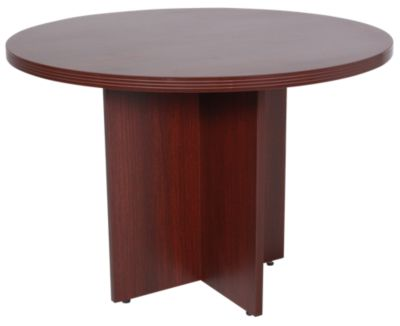 Office Star Napa Mahogany Round Conference Table