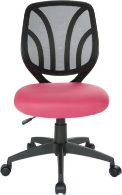 Office Star Screen Back Armless Desk Chair