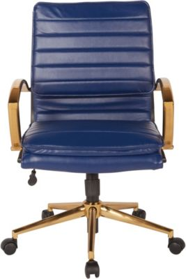 Office Star Midback Faux Leather Desk Chair