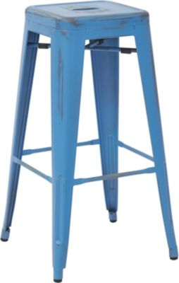 Office Star Bristow Royal Blue Barstool