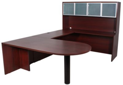 Office Star Napa Mahogany 4 Piece Desk