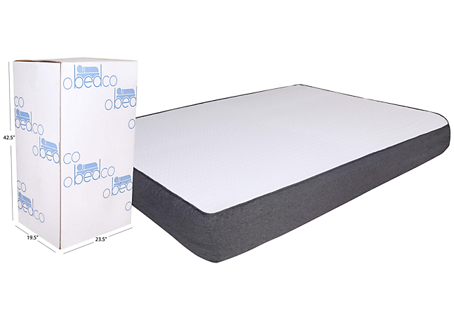 Omaha Bedding 8 inch Gel Memory Foam Mattress in a Box