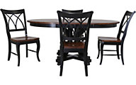 Palettes Black 2 Tone 5-Piece Dining Set