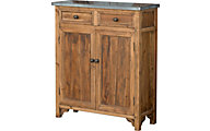 Park Hill Collection Zinc Top Farmhouse Cabinet