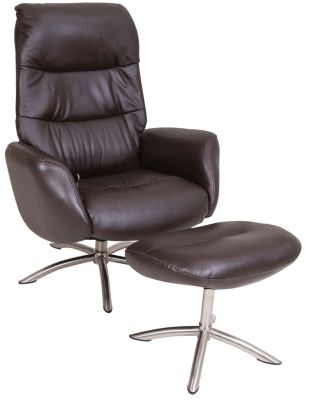 Palliser Quantum Leather Chair & Ottoman