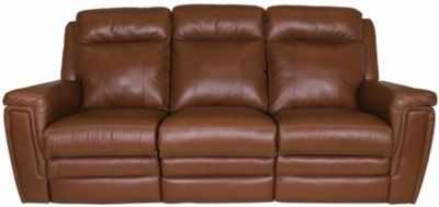 Palliser Asher Red Leather Power Reclining Sofa | Homemakers Furniture