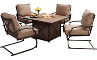 Patio Logic Sonoma Fire Pit With Four Spring Chairs