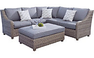 Patio Logic Raffia Outdoor Sectional And Ottoman
