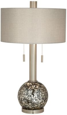 Pacific Coast Lighting Empress Nickel Table Lamp