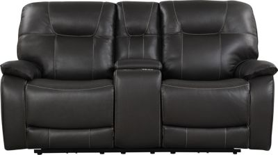 Parker House Axel Gray Power Recline Console Loveseat