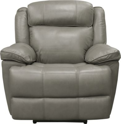 Parker House Eclipse Gray Leather Power Headrest Recliner