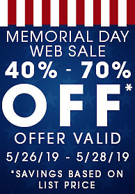 Memorial Day Web Sale