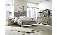Pulaski Farrah 4-Piece Queen Mirrored Bedroom Set