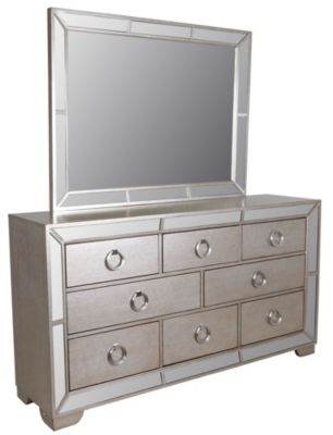 Pulaski Farrah Mirrored Dresser with Mirror