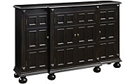 Pulaski Black Hall Storage Console