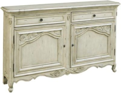 Pulaski French Cream Storage Accent Console