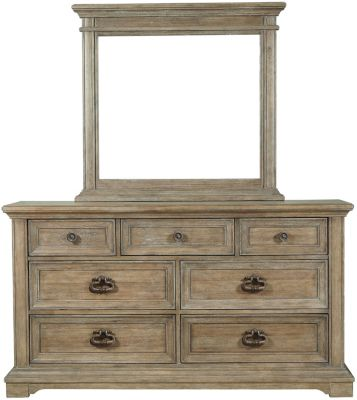 Pulaski Arrow Dresser with Mirror