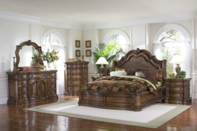 Pulaski San Mateo 4 Piece King Sleigh Bedroom Set