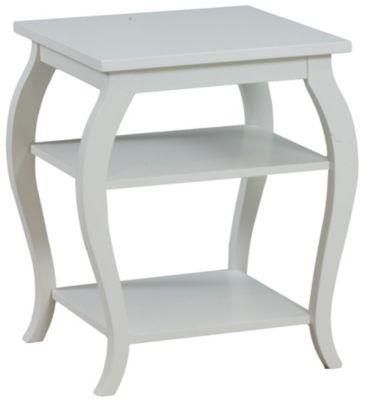 Powell Panorama White Accent Table