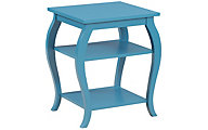 Powell Panorama Teal Accent Table