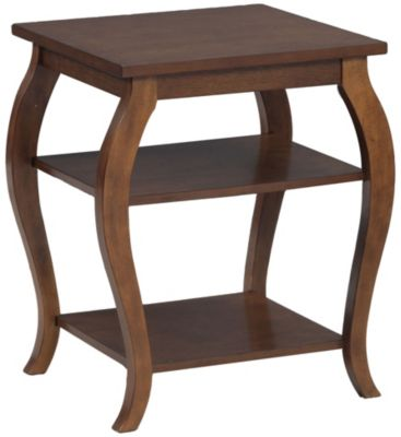 Powell Panorama Hazelnut Accent Table