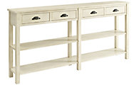 Powell Cream Crackle Storage Console Table