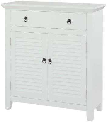 Powell White Shutter Console Cabinet