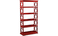 Powell Turner Red Etagere Bookcase