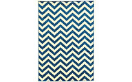 Powell Claremont Blue Chevron 5' X 7' Rug