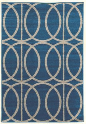 Powell Claremont Blue Circles 5' X 7' Rug