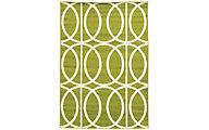 Powell Claremont Green Circles 5' X 7' Rug