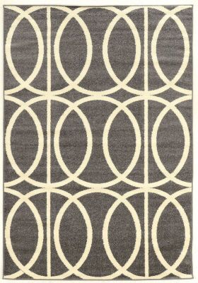 Powell Claremont Gray Circles 5' X 7' Rug