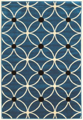 Powell Claremont Blue Geo 5' X 7' Rug