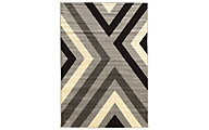 Powell Claremont Gray Angles 5' X 7' Rug